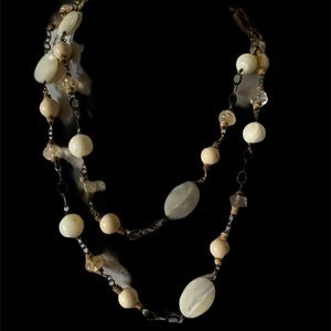 VTG SILPADA SHELLS AND CRYSTALS PENDANT NECKLACE